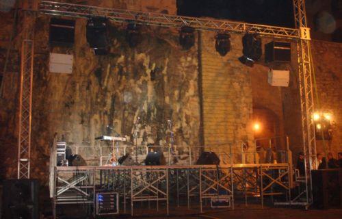 Audio, luci e palco