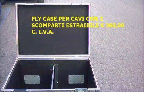 Flight Case per cavi con due scomparti estraibili