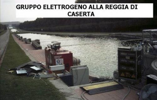 Gruppo elettrogeno alla Reggia di Caserta