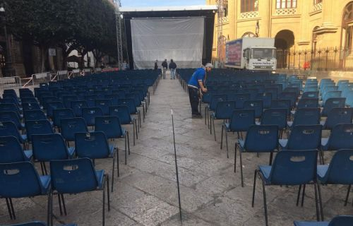 Chairs in Piazza Massimo