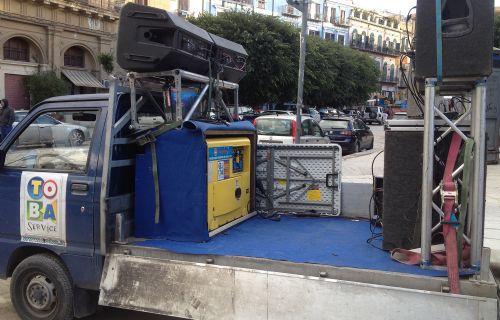 Sound System su Camion per piccoli budget